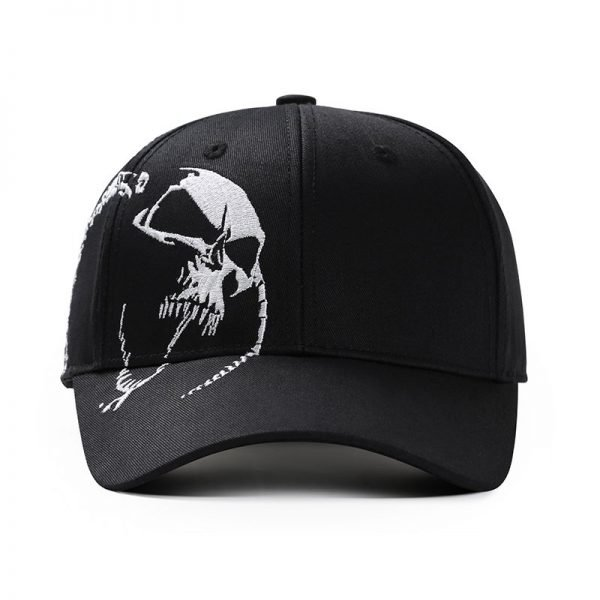 High Quality Unisex 100% Cotton Outdoor Baseball Cap Skull Embroidery Snapback Fashion Sports Hats For Men & Women Cap 4