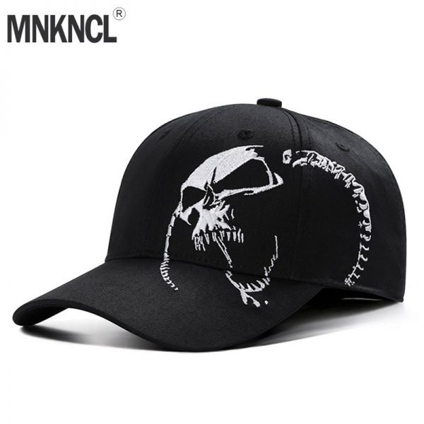 High Quality Unisex 100% Cotton Outdoor Baseball Cap Skull Embroidery Snapback Fashion Sports Hats For Men & Women Cap 2