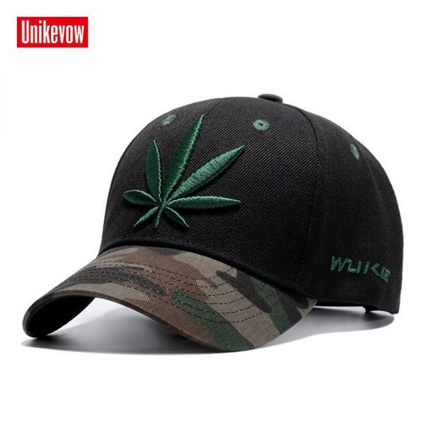High quality Baseball Cap Unisex Sports leisure hats leaf embroidery sport cap for men and women hip hop hats 4