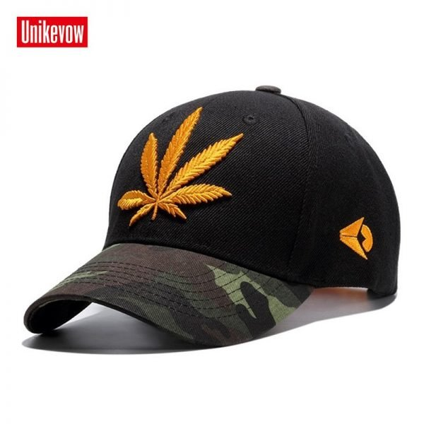 High quality Baseball Cap Unisex Sports leisure hats leaf embroidery sport cap for men and women hip hop hats 6