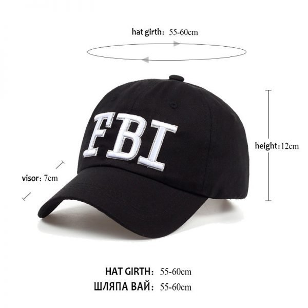 High quality Wholesale Retail 1pc free shipping voron Hat & Cap FBI Fashion Leisure embroidery CAPS Unisex Baseball Cap 12