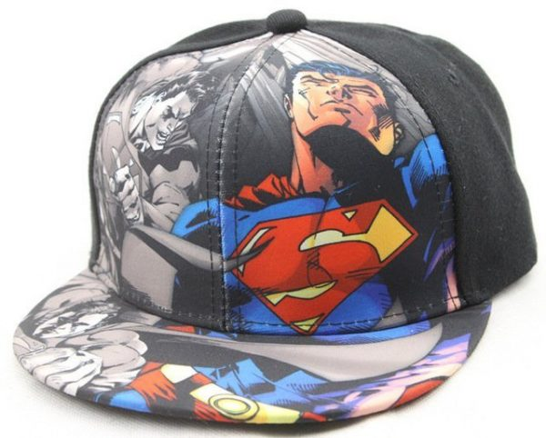 Hot Sale Children Cartoon Colorful Superman Batman Adjustable Kids Baseball Snapback Cap Unisex Hip Hop Hats 16
