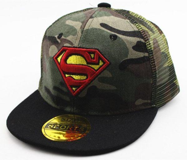 Hot Sale Children Cartoon Colorful Superman Batman Adjustable Kids Baseball Snapback Cap Unisex Hip Hop Hats 34