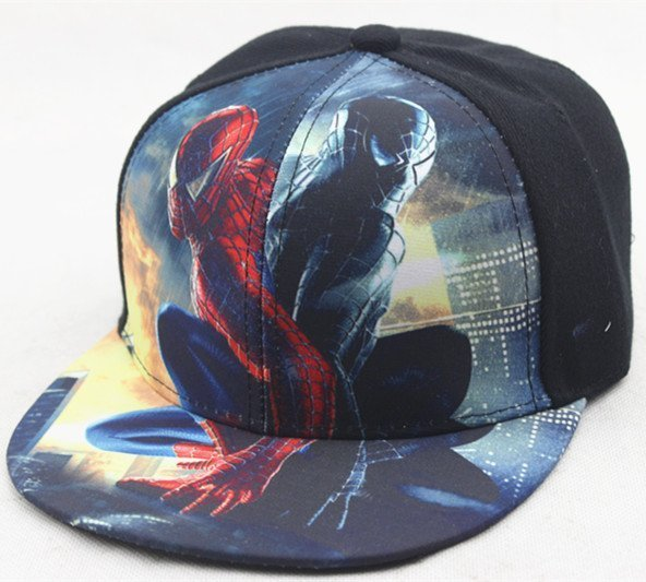 Hot Sale Children Cartoon Colorful Superman Batman Adjustable Kids Baseball Snapback Cap Unisex Hip Hop Hats 18