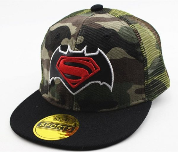 Hot Sale Children Cartoon Colorful Superman Batman Adjustable Kids Baseball Snapback Cap Unisex Hip Hop Hats 24
