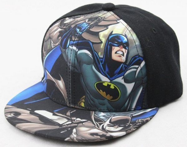 Hot Sale Children Cartoon Colorful Superman Batman Adjustable Kids Baseball Snapback Cap Unisex Hip Hop Hats 14