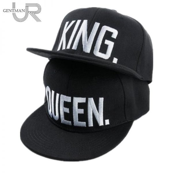 Hot Sale KING QUEEN Embroidery Snapback Hat Acrylic Men Women Couple Baseball Cap Gifts Fashion Hip-hop Caps 2