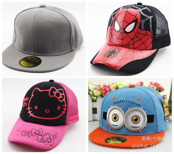 Hot Sale Snapback Summer Cartoon Baseball Cap Kids Baby&Girls Adjustable Caps Fashion Children Hip-Hop Hat 2