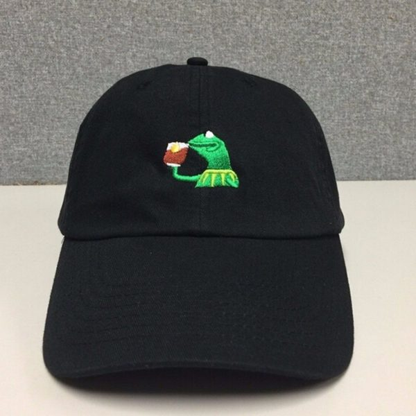 KERMIT NONE OF MY BUSINESS UNSTRUCTURED DAD HAT CAP FROG TEA LEBRON JAMES NEW casquette kenye west ye bear dad cap Big Daddy hat 4