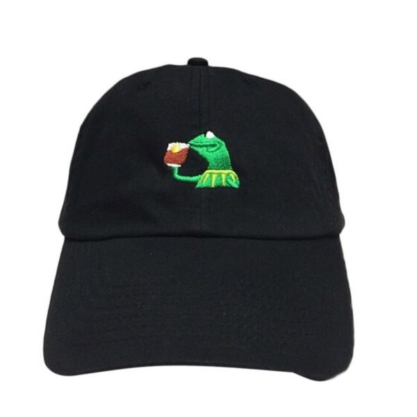 KERMIT NONE OF MY BUSINESS UNSTRUCTURED DAD HAT CAP FROG TEA LEBRON JAMES NEW casquette kenye west ye bear dad cap Big Daddy hat 2