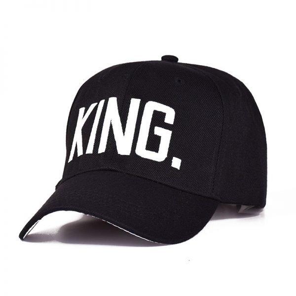 MNKNCL Hot Selling King Queen Letter Embroidery Baseball Cap Couples Hip Hop Snapback Cap for Man Hat Women bone aba reta gorr 4