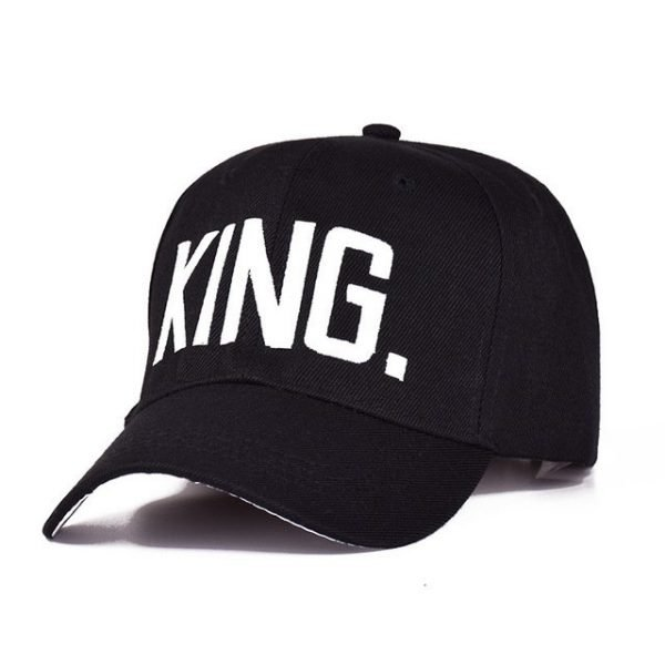 MNKNCL Hot Selling King Queen Letter Embroidery Baseball Cap Couples Hip Hop Snapback Cap for Man Hat Women bone aba reta gorr 16