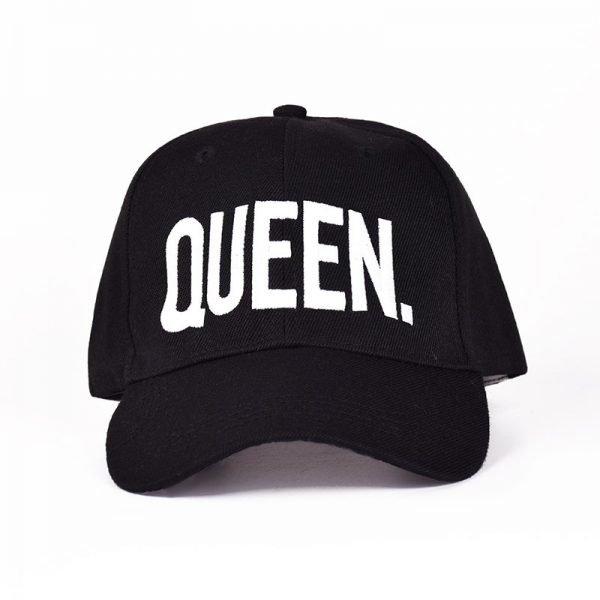 MNKNCL Hot Selling King Queen Letter Embroidery Baseball Cap Couples Hip Hop Snapback Cap for Man Hat Women bone aba reta gorr 6