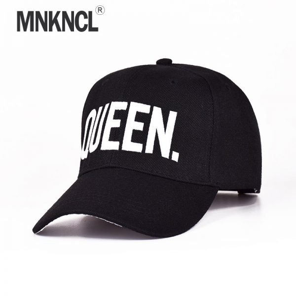 MNKNCL Hot Selling King Queen Letter Embroidery Baseball Cap Couples Hip Hop Snapback Cap for Man Hat Women bone aba reta gorr 2