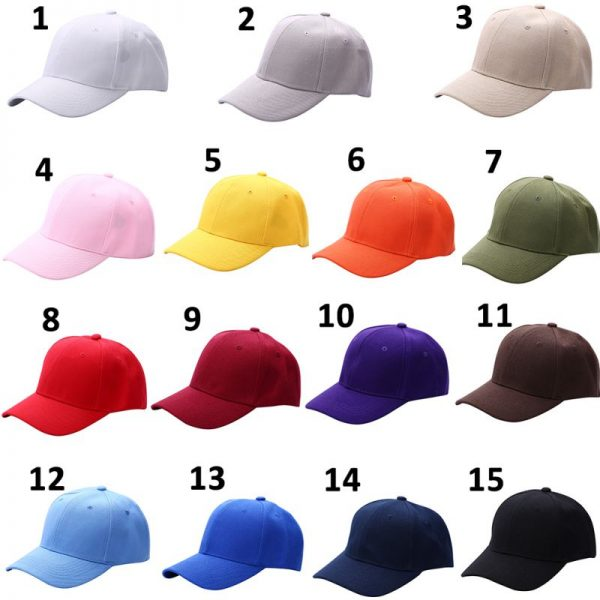 Men Women Plain Baseball Cap Unisex Curved Visor Hat Hip-Hop Adjustable Peaked Hat Visor Caps Solid Color LM93 4