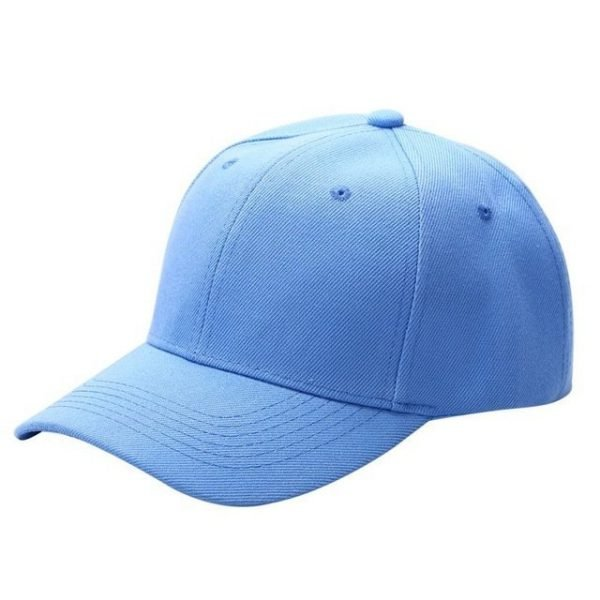 Men Women Plain Baseball Cap Unisex Curved Visor Hat Hip-Hop Adjustable Peaked Hat Visor Caps Solid Color LM93 26