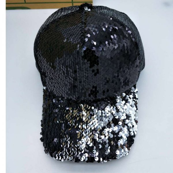 NEW Sequins Paillette Bling Shinning Mesh Baseball Cap Striking Pretty Adjustable Women Girls Hats For Party Club Gathering 8