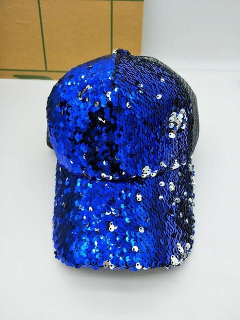 NEW Sequins Paillette Bling Shinning Mesh Baseball Cap Striking Pretty Adjustable Women Girls Hats For Party Club Gathering 20