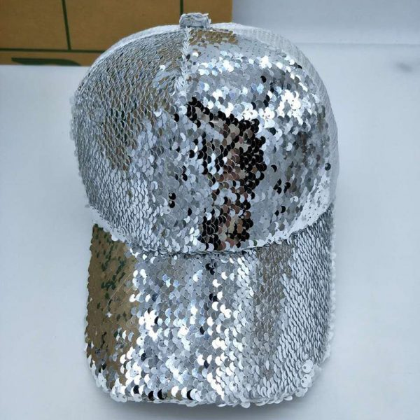 NEW Sequins Paillette Bling Shinning Mesh Baseball Cap Striking Pretty Adjustable Women Girls Hats For Party Club Gathering 10