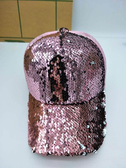 NEW Sequins Paillette Bling Shinning Mesh Baseball Cap Striking Pretty Adjustable Women Girls Hats For Party Club Gathering 22