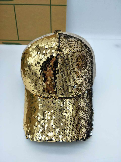 NEW Sequins Paillette Bling Shinning Mesh Baseball Cap Striking Pretty Adjustable Women Girls Hats For Party Club Gathering 24