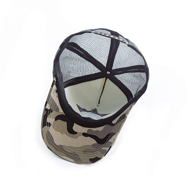New 3D Five-pointed Star Embroidery Mesh Baseball Cap Fashion Summer Snapback Camouflage Hat Cap For Men & Women Leisure Cap 10