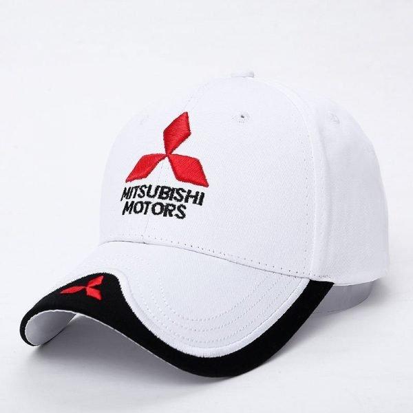 New 3D Logo Mitsubishi Hat Car Caps Motogp Moto Racing F1 Baseball Cap Men Women Adjustable Casual Trucker Hat Wholesale Retail 3