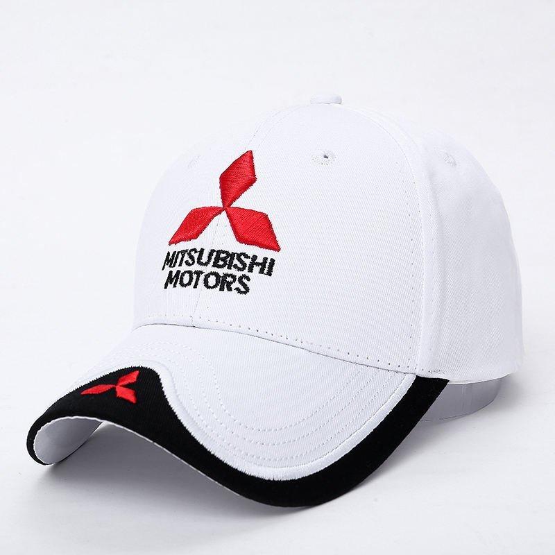 New 3D Logo Mitsubishi Hat Car Caps Motogp Moto Racing F1 Baseball Cap Men Women Adjustable Casual Trucker Hat Wholesale Retail 5
