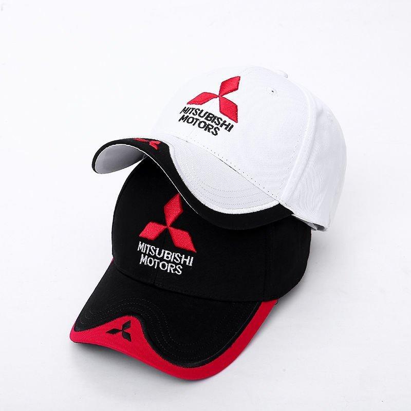 New 3D Logo Mitsubishi Hat Car Caps Motogp Moto Racing F1 Baseball Cap Men Women Adjustable Casual Trucker Hat Wholesale Retail 7
