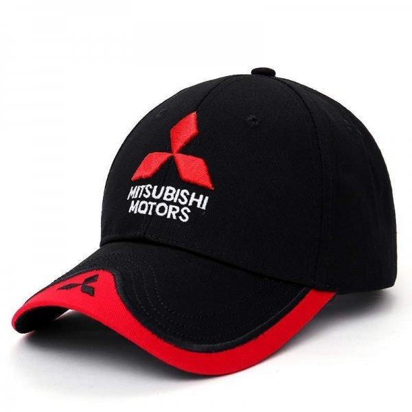 New 3D Logo Mitsubishi Hat Car Caps Motogp Moto Racing F1 Baseball Cap Men Women Adjustable Casual Trucker Hat Wholesale Retail 2
