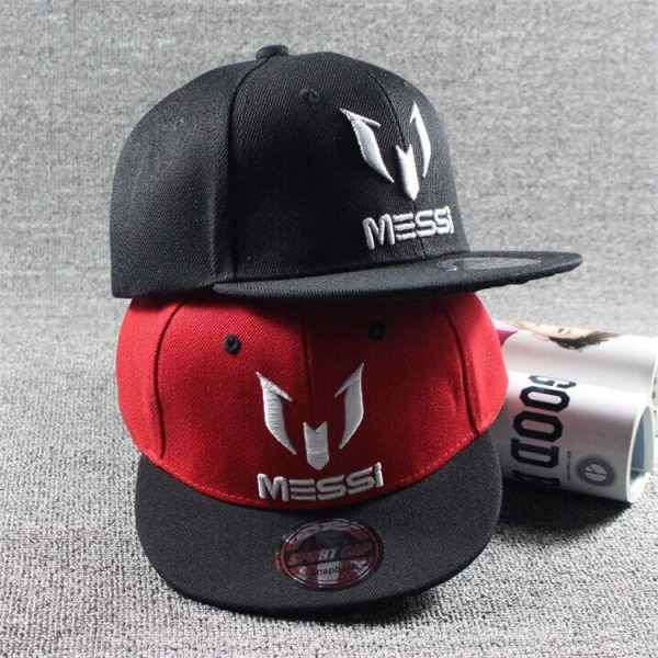 New Arrival Kids  MESSI Embroidery Cotton Snapback Caps Hip Hop Hats Boys&Girls Children Cartoon Baseball Cap Hat Bone 4