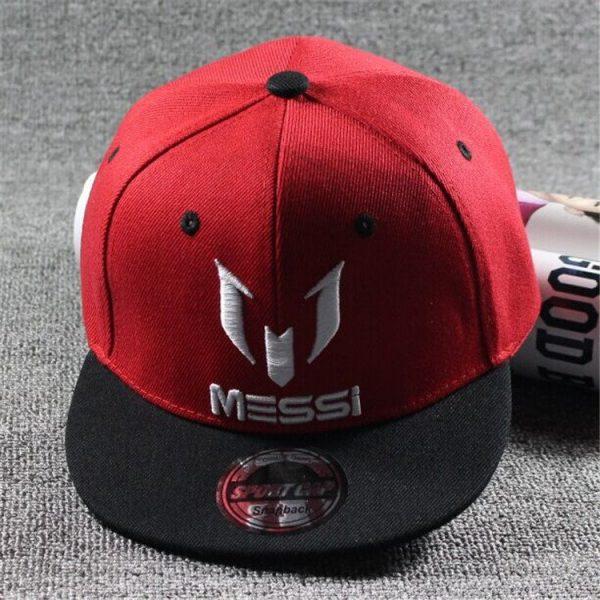 New Arrival Kids  MESSI Embroidery Cotton Snapback Caps Hip Hop Hats Boys&Girls Children Cartoon Baseball Cap Hat Bone 8