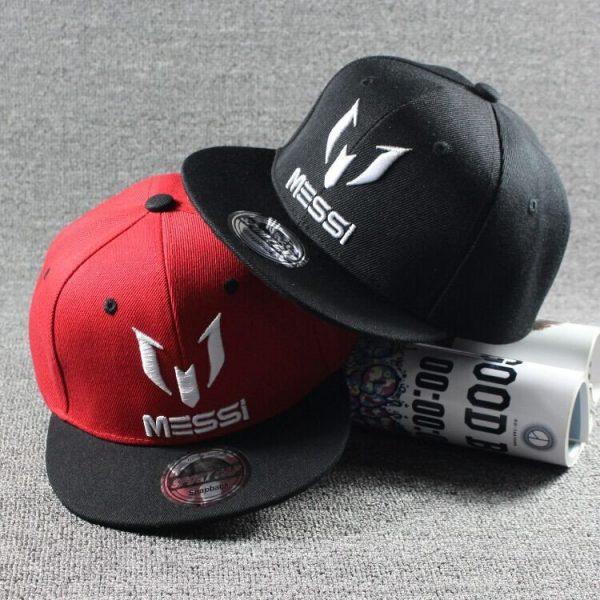 New Arrival Kids  MESSI Embroidery Cotton Snapback Caps Hip Hop Hats Boys&Girls Children Cartoon Baseball Cap Hat Bone 2