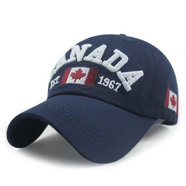 New Arrivals Cotton Gorras Canada Cap Flag Of Canada Hat Snapback Adjuatable Mens Baseball Caps Brand New For Adult 18
