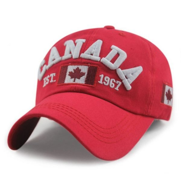 New Arrivals Cotton Gorras Canada Cap Flag Of Canada Hat Snapback Adjuatable Mens Baseball Caps Brand New For Adult 20