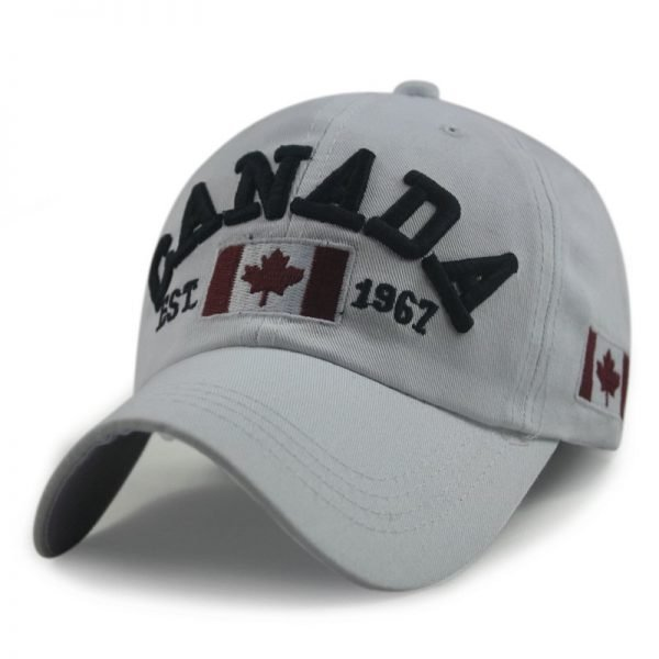 New Arrivals Cotton Gorras Canada Cap Flag Of Canada Hat Snapback Adjuatable Mens Baseball Caps Brand New For Adult 12