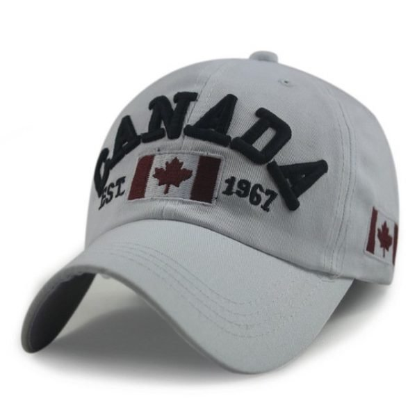 New Arrivals Cotton Gorras Canada Cap Flag Of Canada Hat Snapback Adjuatable Mens Baseball Caps Brand New For Adult 14