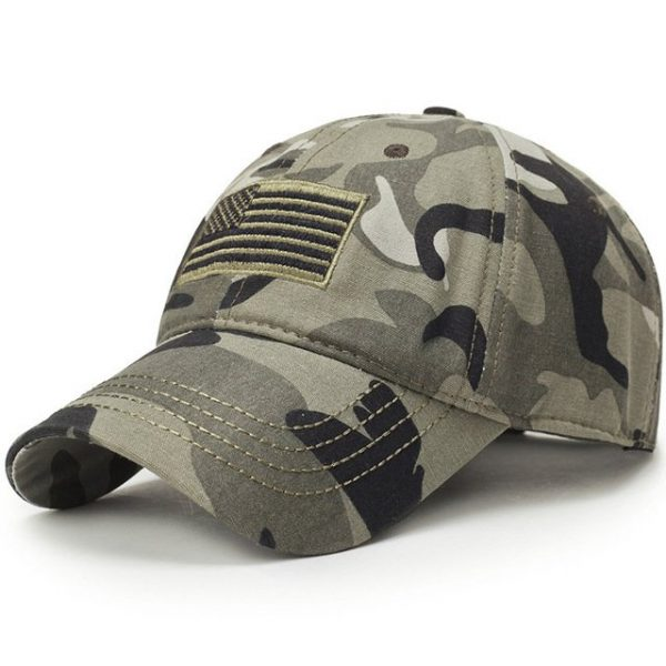 New Men USA Flag Camouflage Baseball Cap Army Embroidery Cotton Tactical Snapback Dad Hat Male Summer Sports America Trucker Cap 7