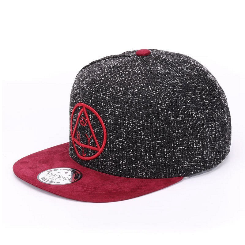 Quality Snapback cap NY round triangle embroidery brand flat brim baseball cap youth hip hop cap and  hat for boys and girls 3