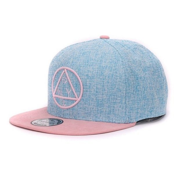 Quality Snapback cap NY round triangle embroidery brand flat brim baseball cap youth hip hop cap and hat for boys and girls 16