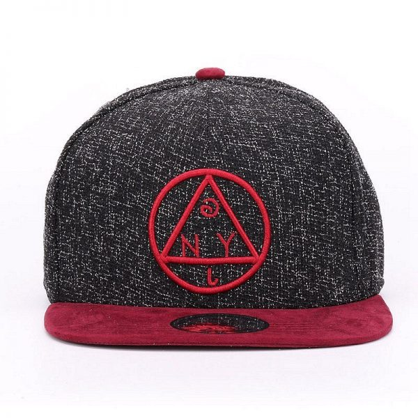 Quality Snapback cap NY round triangle embroidery brand flat brim baseball cap youth hip hop cap and hat for boys and girls 6