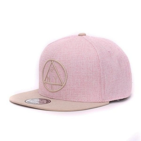 Quality Snapback cap NY round triangle embroidery brand flat brim baseball cap youth hip hop cap and  hat for boys and girls 18