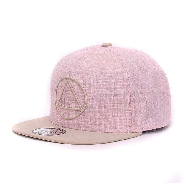 Quality Snapback cap NY round triangle embroidery brand flat brim baseball cap youth hip hop cap and  hat for boys and girls 17
