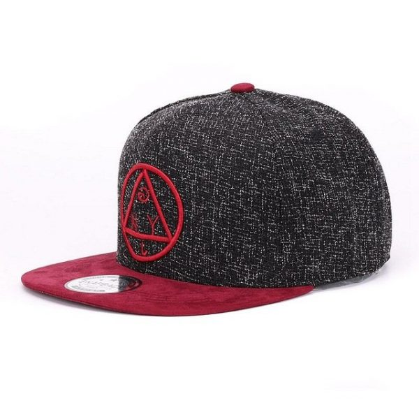 Quality Snapback cap NY round triangle embroidery brand flat brim baseball cap youth hip hop cap and hat for boys and girls 14