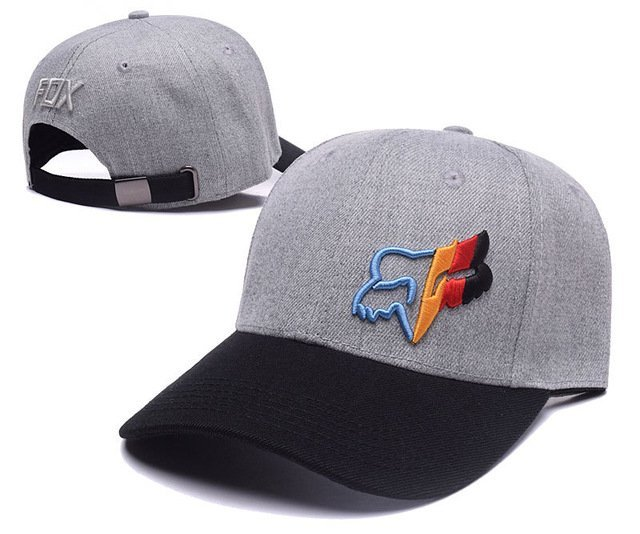 RUNMEIFA New Racing Cap Solid Color Fox Pattern Print Canvas Cap For Adult Outdoor Sports Adjustable Basketball Hat Casquette 15