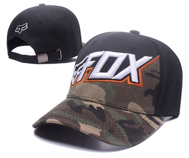 RUNMEIFA New Racing Cap Solid Color Fox Pattern Print Canvas Cap For Adult Outdoor Sports Adjustable Basketball Hat Casquette 33
