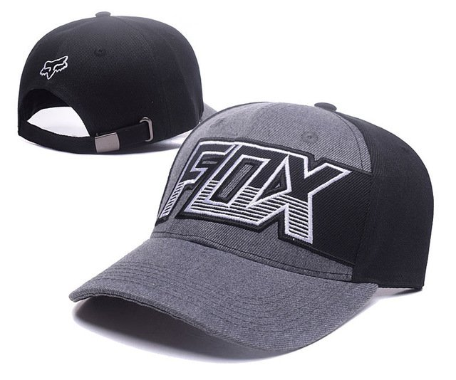 RUNMEIFA New Racing Cap Solid Color Fox Pattern Print Canvas Cap For Adult Outdoor Sports Adjustable Basketball Hat Casquette 35