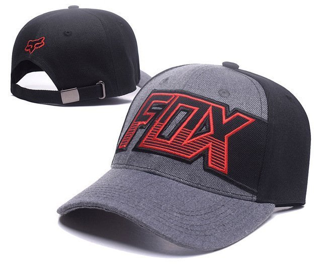 RUNMEIFA New Racing Cap Solid Color Fox Pattern Print Canvas Cap For Adult Outdoor Sports Adjustable Basketball Hat Casquette 37