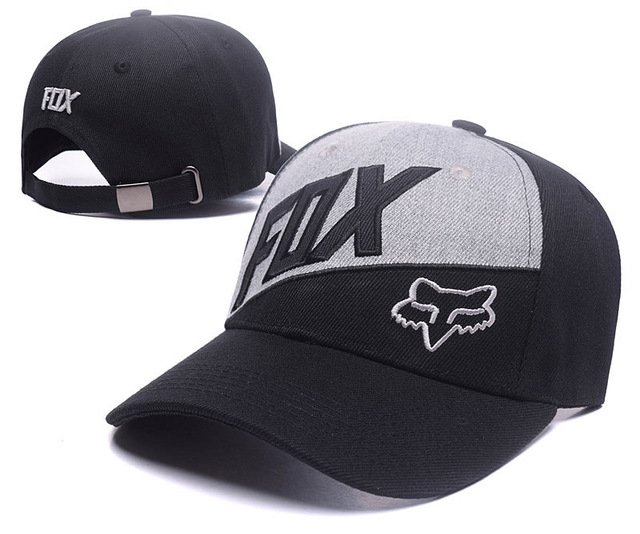RUNMEIFA New Racing Cap Solid Color Fox Pattern Print Canvas Cap For Adult Outdoor Sports Adjustable Basketball Hat Casquette 39
