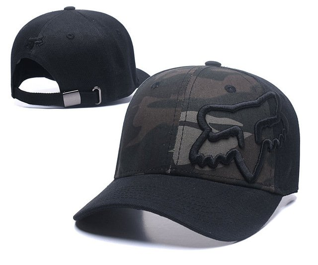 RUNMEIFA New Racing Cap Solid Color Fox Pattern Print Canvas Cap For Adult Outdoor Sports Adjustable Basketball Hat Casquette 49